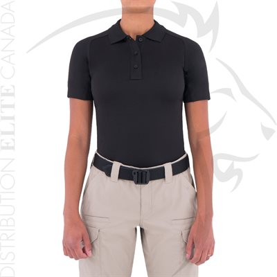 FIRST TACTICAL WOMEN PERFORMANCE POLO SHORT - BLACK - XS