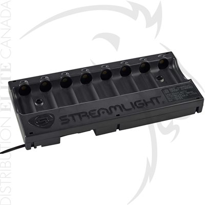 STREAMLIGHT 18650 8-UNIT BANK CHARGEUR - 12V DC 2 CORD
