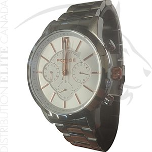 FIORI POLICE WATCH - LEGACY STAINLESS STEEL W / WHITE DIAL