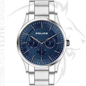 FIORI POLICE WATCH - COURTESY STAINLESS STEEL W / BLUE DIAL