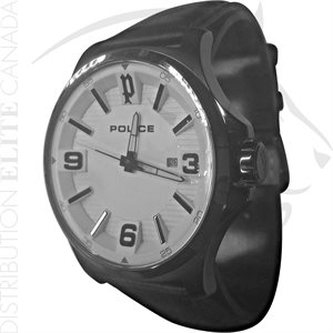 FIORI POLICE WATCH - CLAN BLACK LEATHER W / WHITE DIAL