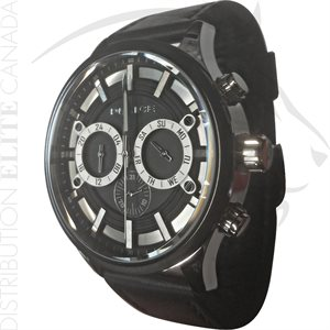 FIORI POLICE WATCH - CONTROLLER BLACK LEATHER W / BLACK DIAL