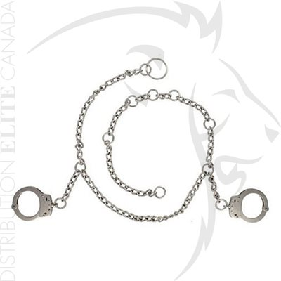 S&W M-1800 BELLY CHAIN WITH HANDCUFF - SLOT LOCK - STAINLESS