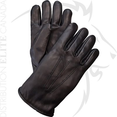 HAKSON 383 WINTER LEATHER DRESS GLOVES W / THICK WOOL - XS