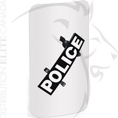PREMIER CROWN TORSO BODY SHIELD (ANGLED HANDLE) - POLICE