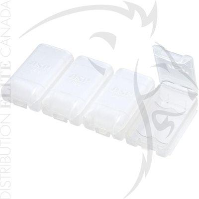 ASP ÉTUIS PLASTIQUE POUR BATTERIES - AA (4)
