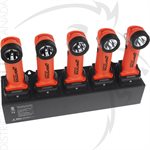 NIGHTSTICK 5-BANK AC CHARGER - RECHARGEABLE INTRANT™ ANGLE