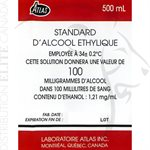 ATLAS ETHYL ALCOHOL STANDARD SOLUTION 100 MG% (BOX OF 6)