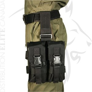 BLACKHAWK OMEGA ELITE ENHANCED M16 DROP-LEG MAG POUCH