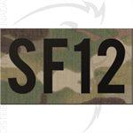 INFRARED ID IR CALLSIGN PATCH 2x3.5in - CUSTOM