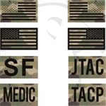 INFRARED ID IR FLAG PATCH 2x3.5in - CUSTOM