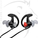 SUREFIRE DOUBLE FLANGED FILTERED EARPLUGS - MD - BLACK