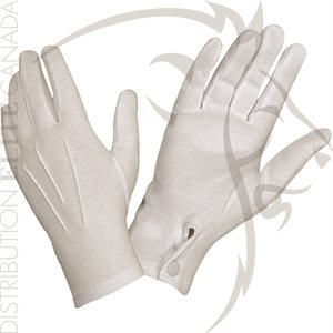HATCH WG1000S COTTON PARADE GLOVES WITH SNAP BACK - WHITE