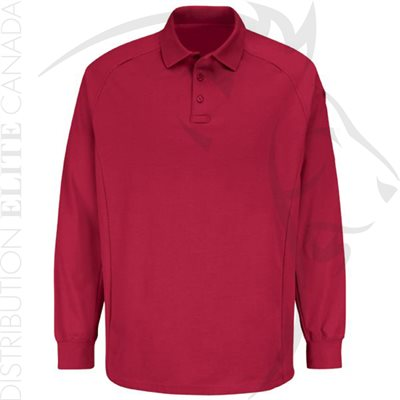 HORACE SMALL NEW DIMENSION LONG SLEEVE POLO - RED - SMALL