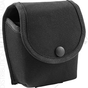 HI-TEC DBL HANDCUFF HOLDER W / FLAP F / ASP 100 OR PEERLESS 805