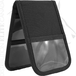 HI-TEC 3X5in NOTEPAD COVER W / INNER & OUTER CLEAR POCKETS