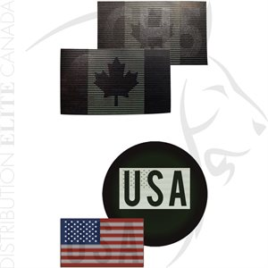 INFRARED ID DUAL IR FLAG PATCHES