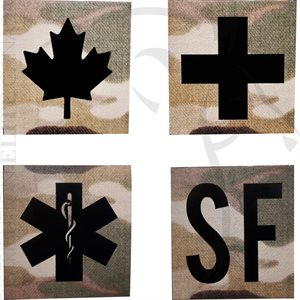 INFRARED ID IR SQUARE SIGN PATCHES