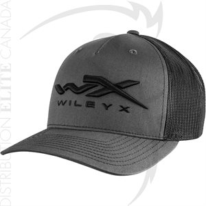 WILEY X MESH HAT CHARCOAL / BLACK - ONE SIZE ADJ