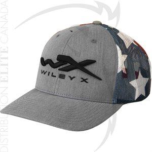 WILEY X MESH HAT STARS & STRIPES - ONE SIZE ADJ
