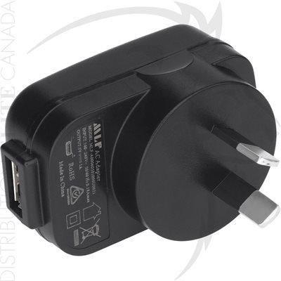 NIGHTSTICK USB TO AC POWER PLUG ADAPTOR - AUSTRALIA