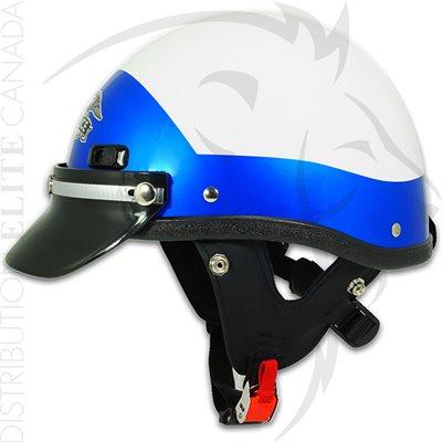 SUPER SEER S1602V MOTOR HELMET - WHITE & BLUE