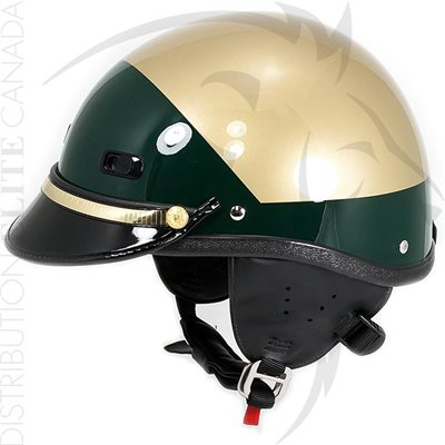 SUPER SEER S1608 MOTOR HELMET - TAN & DARK GREEN