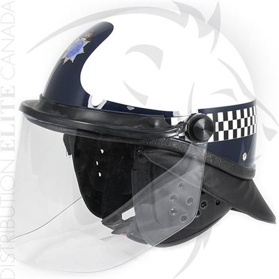 SUPER SEER S1616 MOUNTED HELMET - WHITE & DARK BLUE W / GUARD