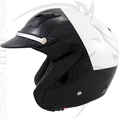 SUPER SEER S1642 OPEN FACE MOTOR HELMET - WHITE & BLACK