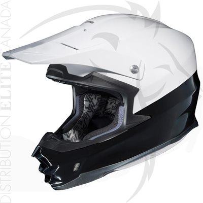 SUPER SEER S1690 MOTOCROSS HELMET - WHITE & BLACK STRIPE