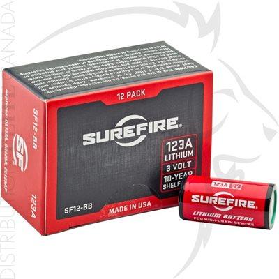 SUREFIRE (12) SF123A BATTERIES - BOXED