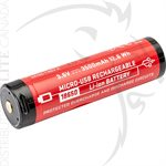 SUREFIRE 18650 PROTECTED LI-ION SF BATTERY 3.5Ah MICRO-USB